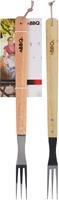 Nampook Bbq vork RVS/hout 46x7cm