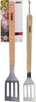 Nampook Bbq spatel RVS/hout 46cm