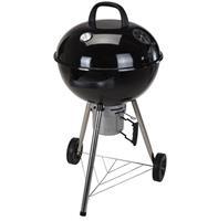 BBQ barbecue op wielen zwart staal 46 x 78 cm