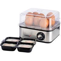 korona eierkoker, 16 eieren, 400 Watt, RVS, stoomfuctie