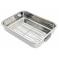 Braadslede met rek, 27x20x5.5cm - kitchencraft