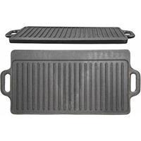 Gietijzeren Grillplaat Dubbelzijdig - 45cm x 23cm - KitchenCraft - Cast Iron