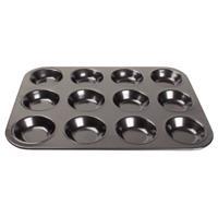 koolstofstalen antikleef bakvorm 12 mini-muffins