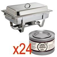 SPECIALE AANBIEDING  Milan Chafing Dish met x24  brandpasta gel