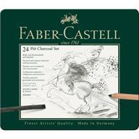 Houtskoolset Faber-Castell Pitt Monochrome 24-delig