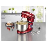 GourmetMaxx 03440 Foodprocessor 1500 W Rood, RVS