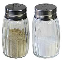 Cosy & Trendy Peper en zout stel vaatjes/strooiers 7 cm Transparant