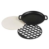 Patton combinatie Multi Grill Set BBQ Nova - zwart - 18xØ36 cm - Leen Bakker