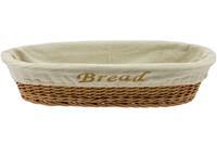 Cosy&trendy BROODMANDJE BREAD M.DOEK 40X18XH10CM OVAAL