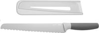 BergHOFF Leo Line broodmes 23 cm met beschermhoes grijs