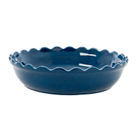 rice Stoneware Pie Dish - Dark Blue L