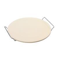 point-virgule pizzasteen uit cordieriet met metalen houder Ø 34cm