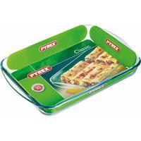 Pyrex 2x Rechthoekige glazen ovenschaal 3,7 liter 40 x 27 x 5,5 cm Transparant