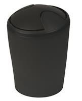 Spirella afvalbak Move zwart 5l