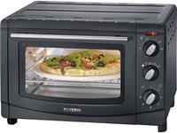 severin TO 2068 Mini-oven Met handmatige temperatuursinstelling, Timerfunctie, Kabelgebonden, Met grillspies, Convectiefunctie, Met pizzasteen 20 l