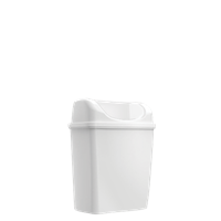 Praxis Edge afvalemmer Mini staand/hangend wit 6L