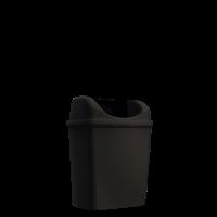 Praxis Edge afvalemmer Mini staand/hangend zwart 6L