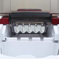 vidaXL IJsblokjesmachine 2,4 L 15 kg/24 u rood