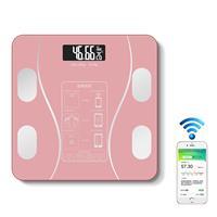 Huishoudelijke slimme lichaamsvet elektronische weegschaal, batterijversie (roze)
