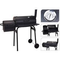 BBQ Grill - Rookoven zwart met thermostaat