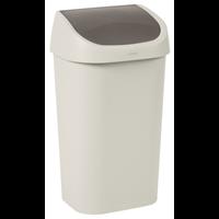 Allibert Curver vuilnisbak Mistral Swing recycled PVC beige 50L