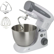 Esperanza Cooking Master Multifunctional Stand Mixer 700 W 4L Stainless Steel Bowl 6 Speeds with Pulse Function Anti-Splash Protection Metal Dough Hook Whisk and Beater EKM024