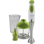 Esperanza Pesto Hand Blender 450 W 2 Speeds with Mixing Bowl Chopper and Whisk Ergonomic Handle Green EKM003G
