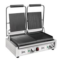 dubbele contactgrill glad/groef