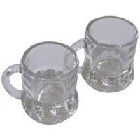60x Shotglas/borrelglas bierpul glaasjes/glazen met handvat van 2cl - Party glazen