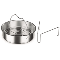 UrbanSofa Fissler inzet met driepoot voor snelkookpannen 22cm zonder perforaties