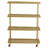 Nordal Trolley Kamo Shelves Goud 104 x 31