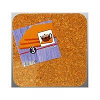 Massamarkt Kurk Onderzetter 19x19cm Set Van 3