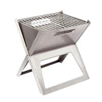 Bo-camp Notebook Compact Houtskool Barbecue - Rvs