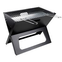 BBQ Collection Barbecue - Bbq - Draagbaar - Opvouwbaar - Losse Vuurschaal En Grillrooster - Zwart