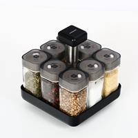 Kruidenrek - 360 Graden draaibaar - Incl. 8 kruiden potjes met strooideksel - Specerijen en kruiden Kruidencarrousel
