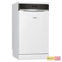 Whirlpool WSFO 3O23 PF. Apparaatplaatsing: Vrijstaand, Productafmeting: Slimline (45 cm), Deurkleur: Wit. Aantal couverts: 10 couverts, Geluidsniveau: 43 dB, Afwasprogramma's: Economie, Glas/Bree