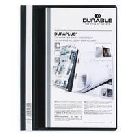 Durable Hechtmap Duraplus A4 extra breed 1-100 vel. zwart (pak 25 stuks)
