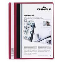 Durable Hechtmap Duraplus A4 extra breed 1-100 vel. rood