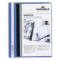 Durable Hechtmap Duraplus A4 extra breed 1-100 vel. blauw (pak 25 stuks)