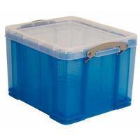Reallyusefulboxes Really Useful Box 35 liter, transparant, blauw