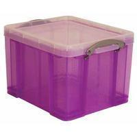 Reallyusefulboxes Really Useful Box 35 liter, transparant paars
