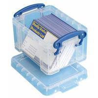 Reallyusefulboxes Really Useful Box visitekaarthouder 0,3 liter, transparant