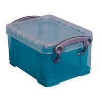 Reallyusefulboxes Really Useful Box 0,3 liter visitekaarthouder, transparant groen