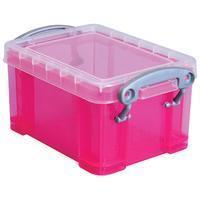 Reallyusefulboxes Really Useful Box visitekaarthouder 0,3 litres, transparant roze