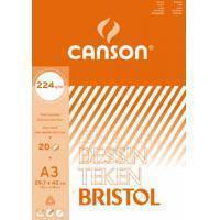 Canson tekenblok Bristol ft 29,7 x 42 cm (A3)