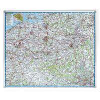Legamaster Wegenkaart België - Beschrijfbaar en Magnetisch