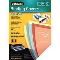 Fellowes Clear PVC Covers - 300 Micron A4, 100 Pack (53763)