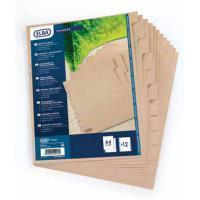 Elba Index tabblad. A4. blanco. karton. bruin (set 10 vel)