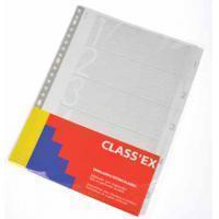 Class'ex tabbladen set 1-5, 23-gaatsperforatie, karton
