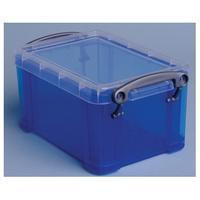 Reallyusefulboxes Really Useful Box 0,7 liter, transparant blauw